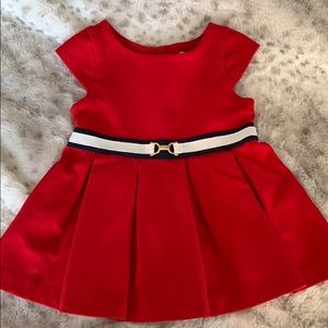 Janie and Jack 3-6 Month Red Dress Holiday